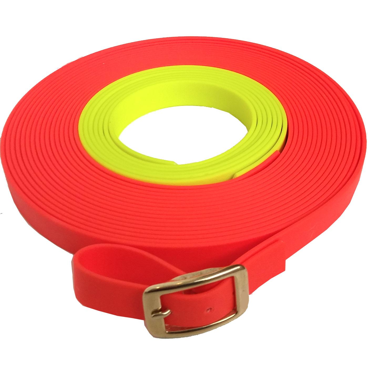 13 mm breit in vielen Farben bis zu 30 Meter L/änge gen/äht BioThane Schleppleine f/ür Hunde 15-25kg mit Handschlaufe